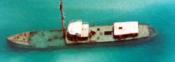 "Aerial view of the ""Arbutus"" - Key West, Florida"