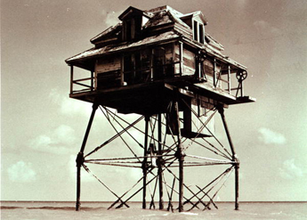 The &quot;House on Stilts&quot;, end of the NW channel, Key West, Florida