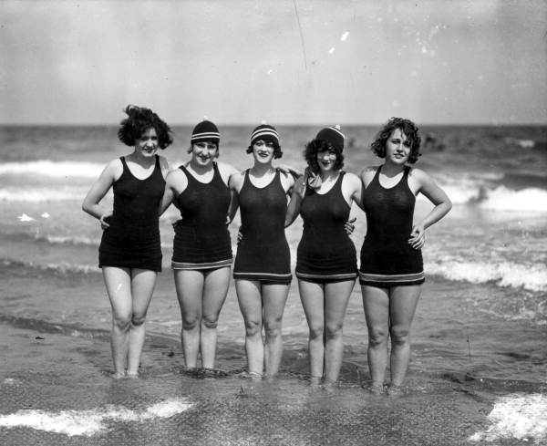 Young women enjoying a day at the beach together - Miami Beach, Florida