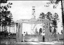 Gate entrance and tower at Pine Top (1936)