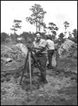 C.C.C. land surveyor, Clyde Kerce (ca. 1939)