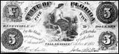 Paper money, issued by the State of Florida during the Civil War (1861)