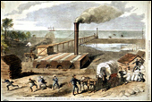 Destruction of a rebel salt factory, on the Florida coast (1862)