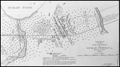 Sketched map of the battlefield of Ocean Pond - Olustee, Florida