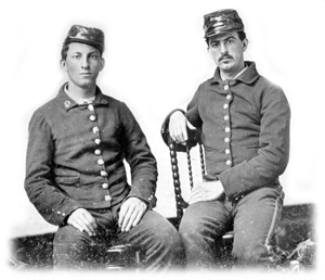 Portrait of two confederate soldiers (186-)