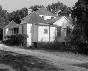 Main house under restoration by the Florida Park Service at Kingsley Plantation State Park: Jacksonville, Florida (1956)