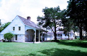 Kitchen and main residence at Kingsley Plantation State Historic Site: Fort George Island, Florida (1982)