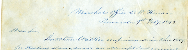 Correspondence Concerning Abolitionist  Jonathan Walker