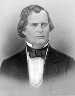 Drawn portrait of Florida's 4th Governor Madison Starke Perry
