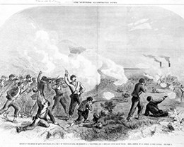Defeat of the rebels on Santa Rosa Isand, by a part of Wilson&rsquo;s Zouaves, 6th Regiment New York Volunteers (October 1861)