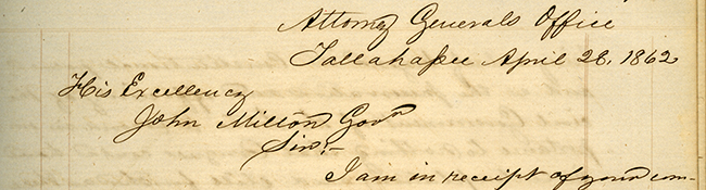 John B. Galbraith to John Milton, April 28, 1862
