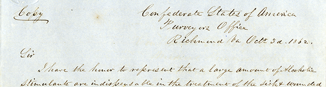 E. W. Johns to John Milton, October 3, 1862