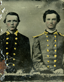 Portrait of John D. Pittman (on left) and a young man identified as Johnson.