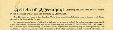 Agreements and applications for potential and current members