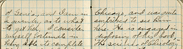 Claude Rahn's journal entry dated December 17, 1911