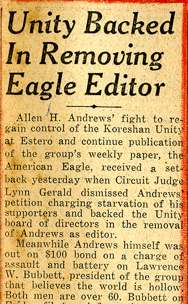 Fort Myers News-Press clipping, February 15, 1948