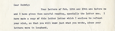 Letter from Rahn to Michel 1960