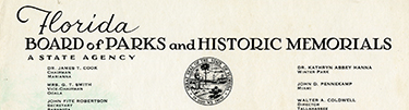 Correspondence and Resolution from Florida Board of Parks and Historic Memorials, 1962