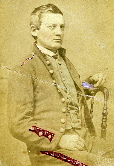 Teed in Civil War uniform