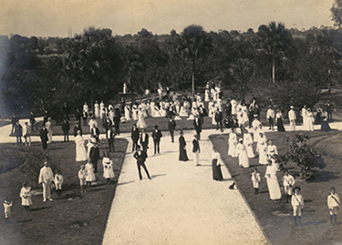 Festival time at Koreshan Unity in Estero, Florida, 1904