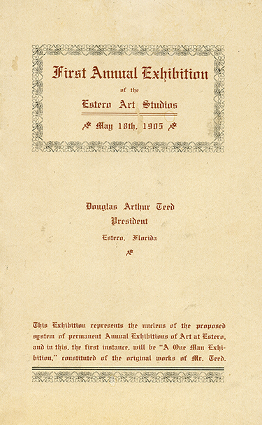 Exhibition of art program, 1905
