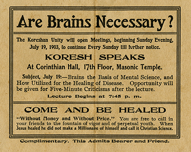 Lecture pamphlet, 1903