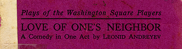 Front Cover of Love of One&rsquo;s Neighbor, 1917