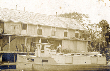 The Esterodocked at the Old General Store (early 1900s)