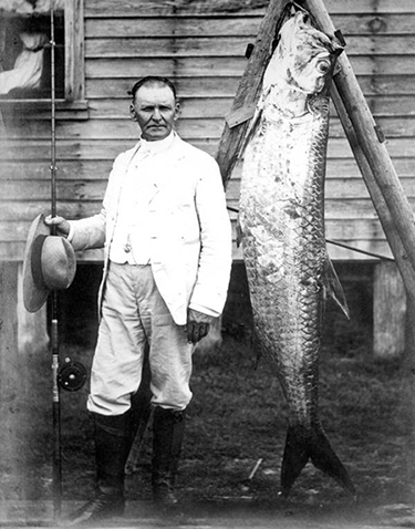 "Cyrus Teed with a Tarpon, the ""Silver King""(ca. 1900)"
