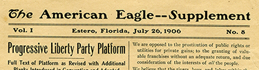 Platform of the Progressive Liberty Party, American Eagle (July 26, 1906)