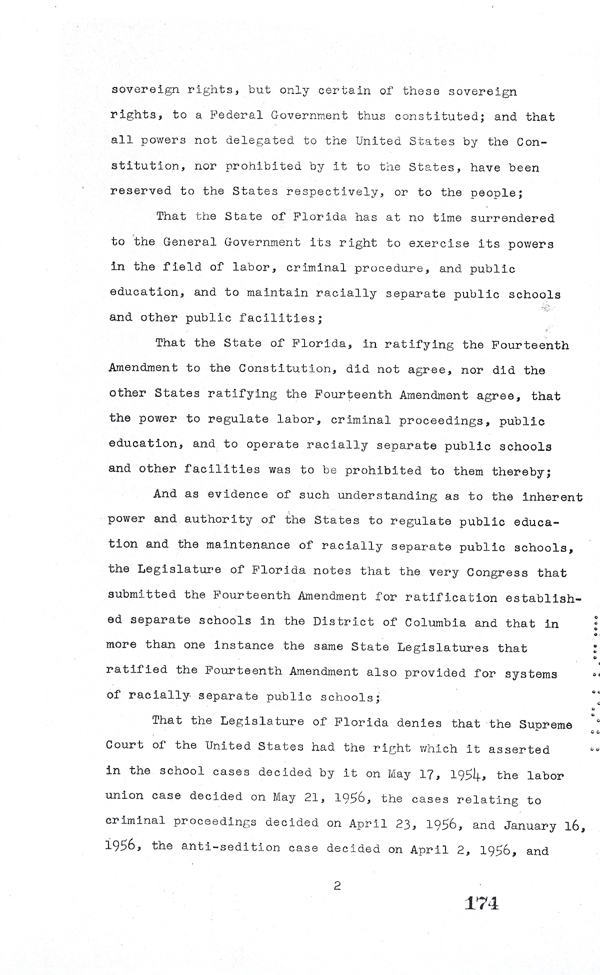 Page 2 of the Interposition Resolution, 1957