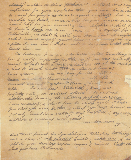 Harriet Randolph Letter