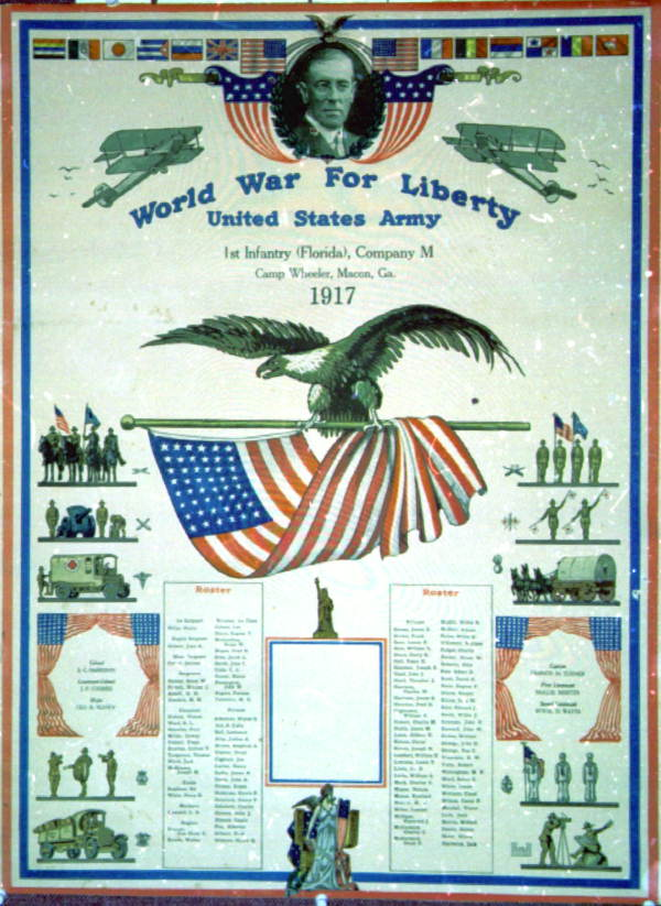 Florida 1st Infantry World War I Poster, 1917