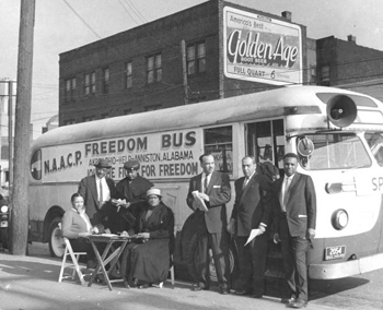 NAACP Freedom Bus and riders (195-?)