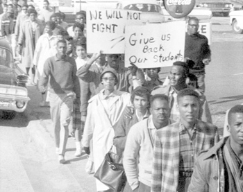 Florida A&M University students on a protest march: Tallahassee, Florida (1960)