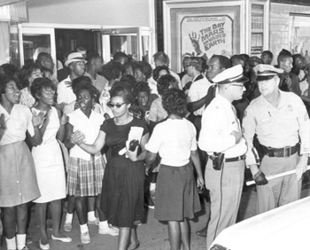 Civil rights demonstration in front of segregated theater: Tallahassee, Florida (1963)