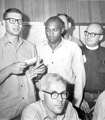 Jailed minister reads support message: Tallahassee, Florida (1964)