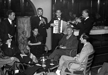 Guests and musicians traveling between Miami, Florida and Havana, Cuba (1948)