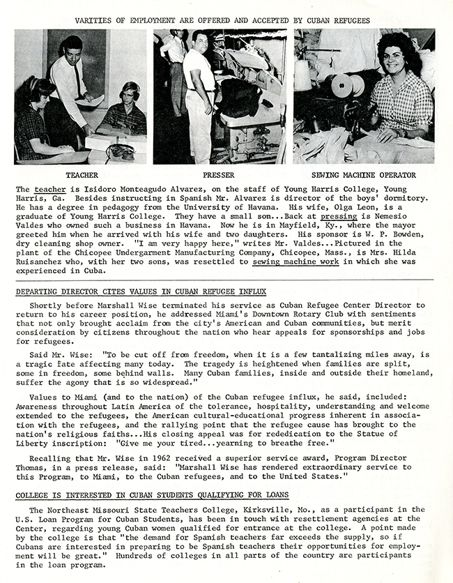 Resettlement Re-Cap, June 1963