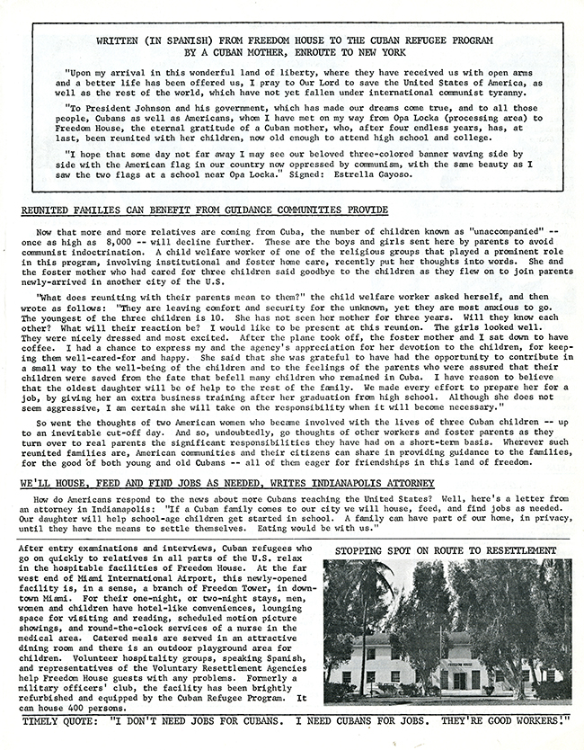 Resettlement Re-Cap, December 1965
