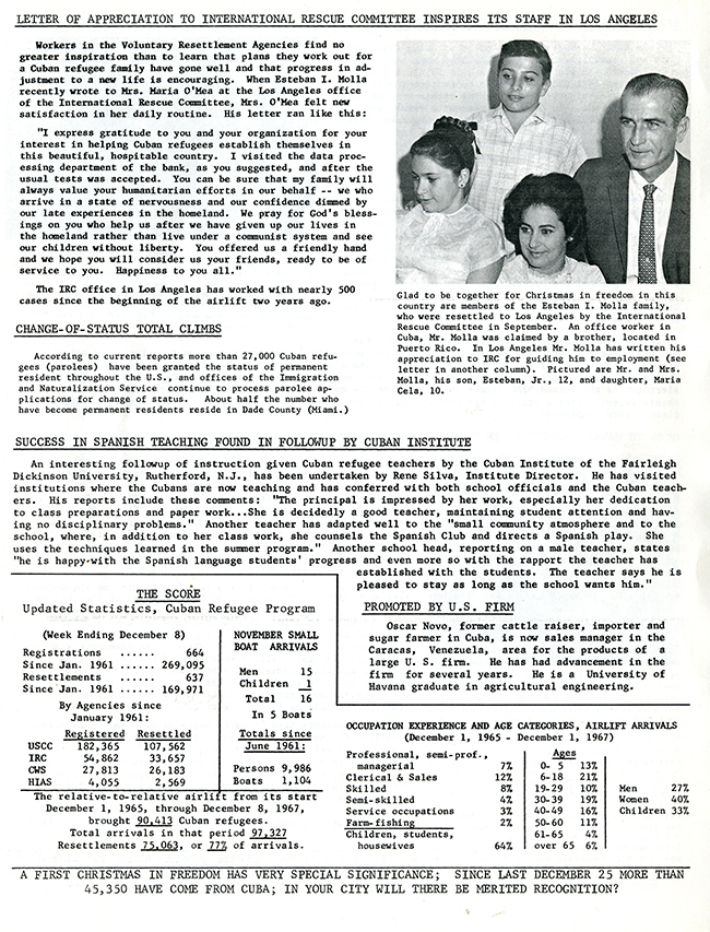 Resettlement Re-Cap, December 1967