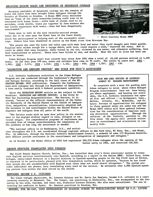 Resettlement Re-Cap, October 1968