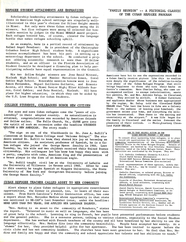 Resettlement Re-Cap, June 1969