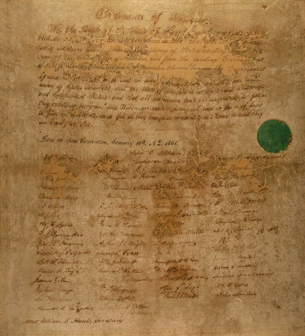 Ordinance of Secession, 1861