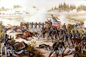 Painting of the Battle at Olustee (18--)