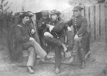 Members of the 75th Ohio Infantry in Jacksonville (1864)