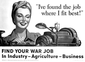 Woman worker poster (ca. 1942)