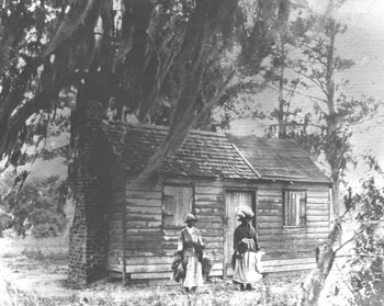 Mayesville cabin where Mary McLeod Bethune was born (18--)