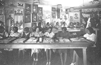 Art class at Bethune-Cookman College (194-?)