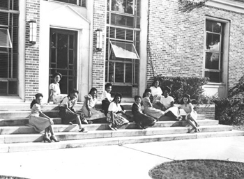 Young women at Bethune-Cookman College (194-)